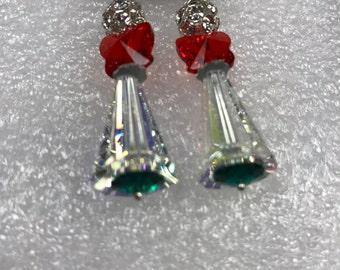 Swarovski Crystal Holiday Earrings.Holiday Earrings, Dangle Earrings,Swarovski Crystal, Earrings.