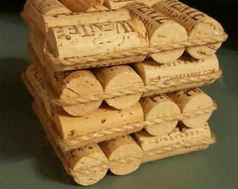 Upcycled Wine Cork Coasters
