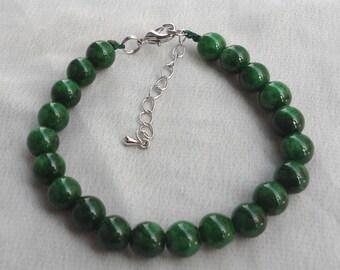 Jade  Bracelet, Emerald green  Bracelet, Pure Natural jade green l, Wedding Jewelry,  Jewelry,Bridesmaid Bracelet,