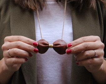 NODE leather necklace