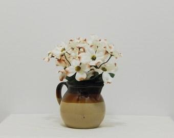 Mother's Day, Flowers in Vase, Spring Flowers, Flower Arrangement, Spring Arrangement, Ceramic Pitcher, Silk Flowers, Easter Arrangement