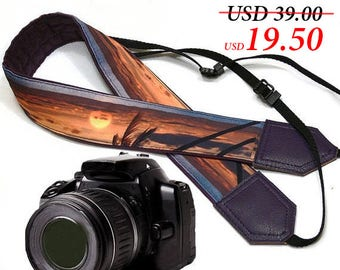 DSLR / SLR Camera Strap. Sea Camera Strap. Beach camera strap. Camera accessories. Photographer gift.