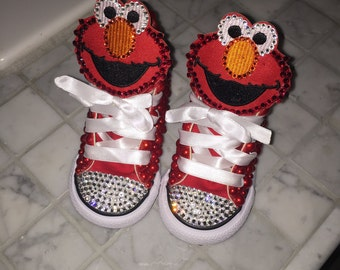 Toddler girls custom character shoes with pearls