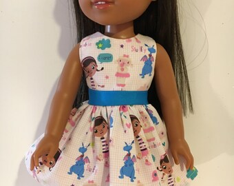 "14.5"" doll dress. Fits dolls like Wellie Wisher and others"