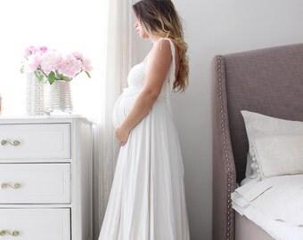 Maternity bohemian dress-wedding dress- Frenchy Gown