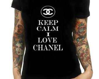 Keep calm and love Chanel t shirt