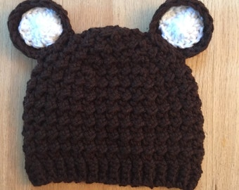 Toddler Boy Grizzly Bear Beanie Hat
