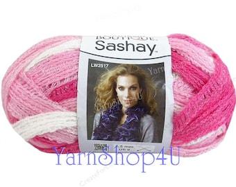 Sashay TUTU Yarn Red Heart Boutique, Pink Ruffle Yarn, Breast Cancer scarf, 3 day walk pink ribbon yarn, race for the cure, Pink Fluffy