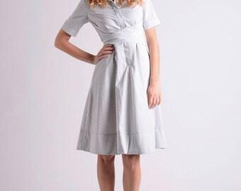 Striped midi wrap dress
