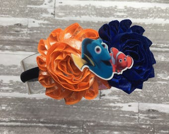 FREE SHIPPING - Finding Dory headband- Finding Dory Bow - Finding Dory Birthday- finding nemo bow
