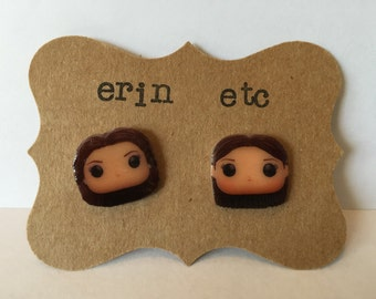 Handmade Plastic Fandom Earrings - Gilmore Girls - Lorelai & Rory