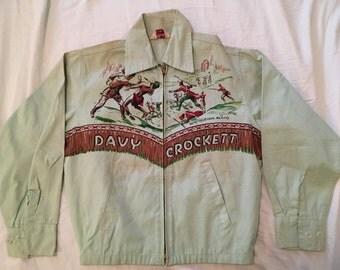 1950s  50s Vintage Novelty Davy Crocket Jacket