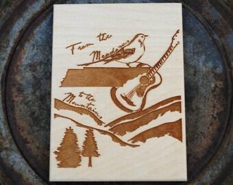 Tennessee Wood Art Print Postcard Size
