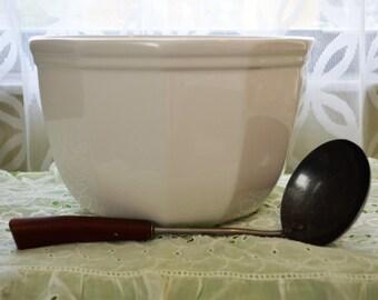 Large Vintage Ironstone Phaltzraff Mixing bowl fruit bowl serving bowl salad bowl