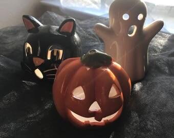 Halloween candle holder set