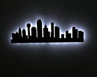 Dallas Texas City Skyline LED Sign