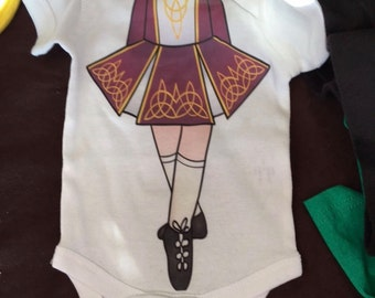 Adorable Future Irish Dancer Onesie, Design for girl or boy
