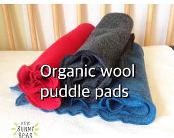 Natural mattress protector, organic wool mattress protector, wool puddle pad, elimination communication, potty training, crib mattress pad