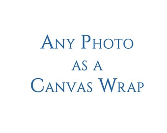 Canvas Gallery Wrap Wall Art Decor. Order any photograph as a canvas gallery wrap. Ready to Hang.