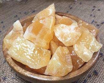 Raw Orange Calcite Crystal Raw Stone Healing Crystals and Stones Raw Crystal Raw Calcite Rough Minerals