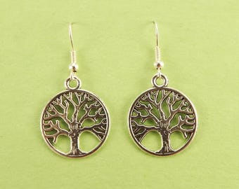 Tree of Life Earrings Silver Filled Wires