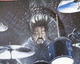 Dave Grohl #Drumming #original #painting #foofighters #nirvana