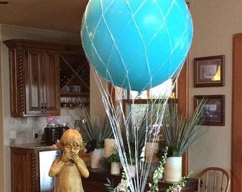 "36"" Hot Air Balloon Net  use with 36 inch Round Balloons Great for Centerpiece and Photo Props Weddings Birthdays ""Shipping Same Day"""