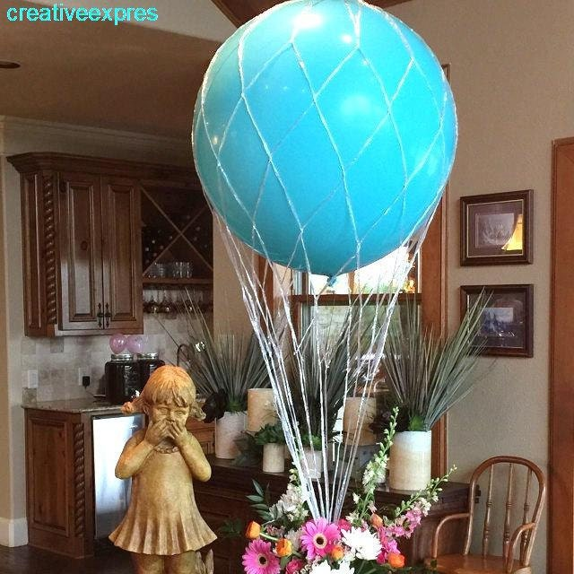 Hot air balloon net use with inch round balloons