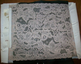 Vintage alencon lace 1920s pure cotton french lace by the yard or bolt