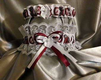 Alabama Crimson Tide Wedding Garter Set