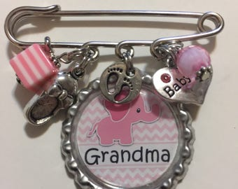 It's a girl Grandna pin baby shower gift