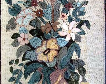 Flower Bouquet Mosaic Marble