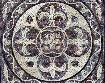Fleur de Lis Marble Mosaic - Lyla II