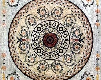 Roman Geometric Mosaic - Cypress