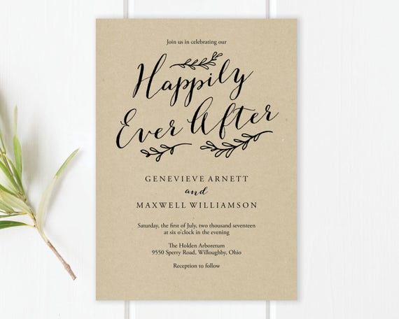 After The Wedding Party Invitations: Happily Ever After Wedding Invitation Template Happily Ever
