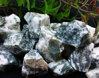 Natural Rough Raw Green Tree Agate
