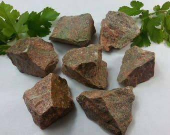 Natural Rough Raw Unakite Jasper Specimens