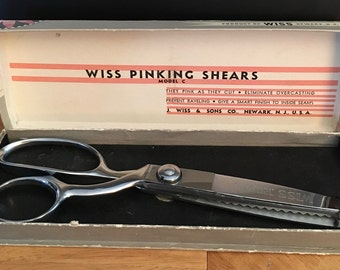 REDUCED! WISS Pinking Shears, Model C, Like New In Original Box