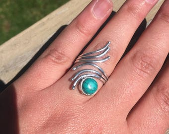 Turquoise 1970's Vintage Navajo Bypass Ring