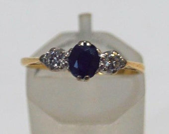 On hold- A Sapphire and Diamond Ring