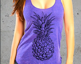 Pineapple Shirt-Womens PINEAPPLE Tank Top)Best Selling Items,Tropical Hawaiian Shirt-Girlfriend Gift-Gift For Her-Birthday Gifts