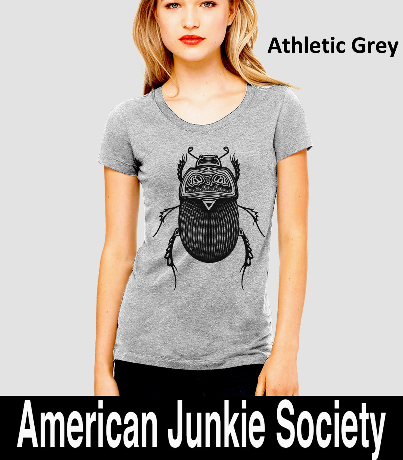 Womens tribal insect beetle shirtbugs best selling for Best selling t shirts on etsy