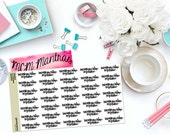 "MCM MANTRAS: ""Don't waste your today on tomorrow"" Paper Planner Stickers!"
