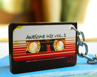 Guardians of the Galaxy Awesome mix tape vol.1 or vol.2 key chain
