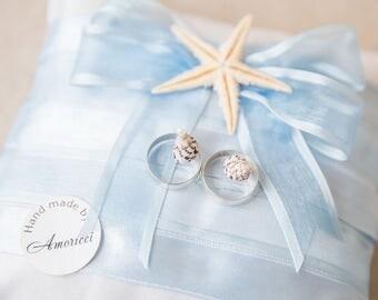 Wedding beach, ring holder, ring bearer pillow, Beach style, Wedding Pillow, Natural starfish