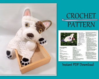 French Bulldog Blankie Buddy Crochet Pattern  // Instant PDF Download //DIY // Baby gift // Photo prop // Make your own // Snuggly