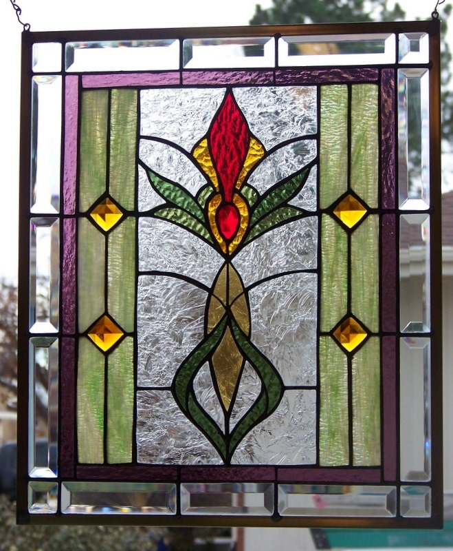 Hanging stained glass Etsy