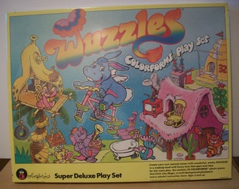 Fabulous Vintage Wuzzles Super Deluxe Colorforms Play Set 1984 - Unopened #4121