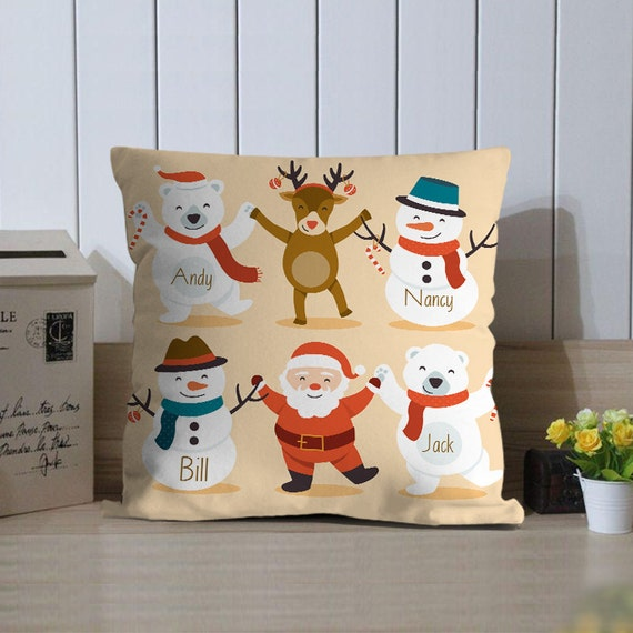 Christmas Pillow Cover Personalized Holiday Pillows Happy