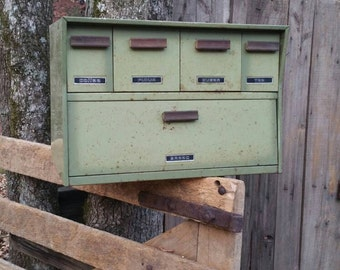 Vintage Bread Box, Vintage Canister, Avocado Green Bread Box, Retro Kitchen Decor, Vintage Avocado Bread Box, 60's